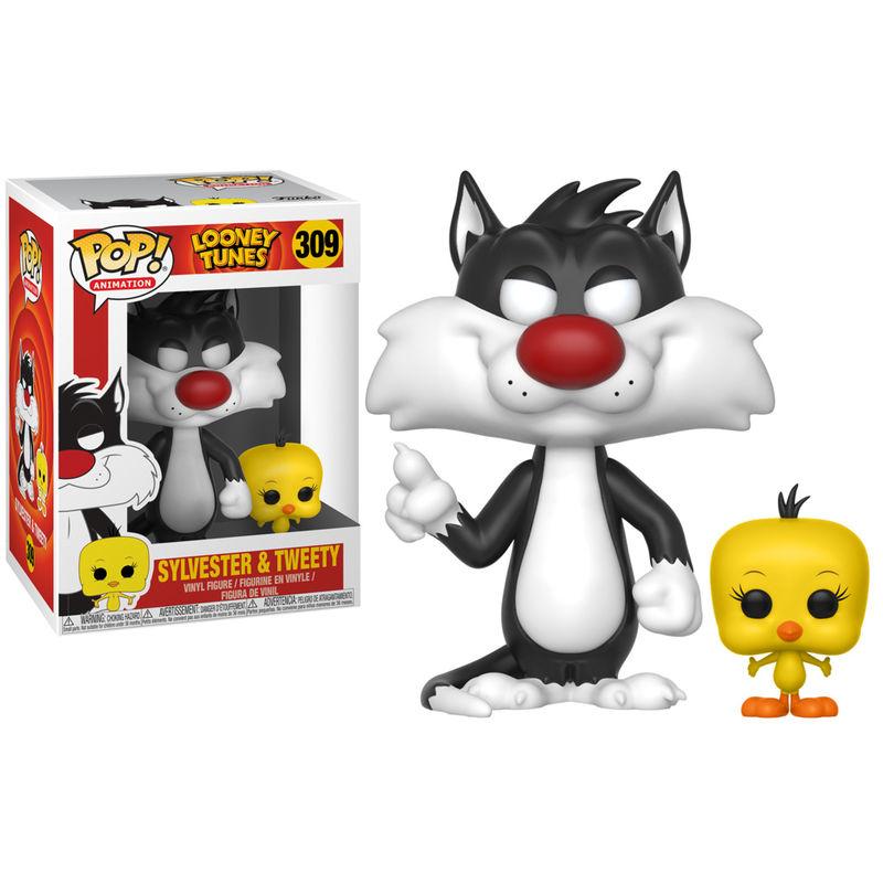 Funko Pop Looney Tunes Silvestre y Piolín - Funkotienda.com