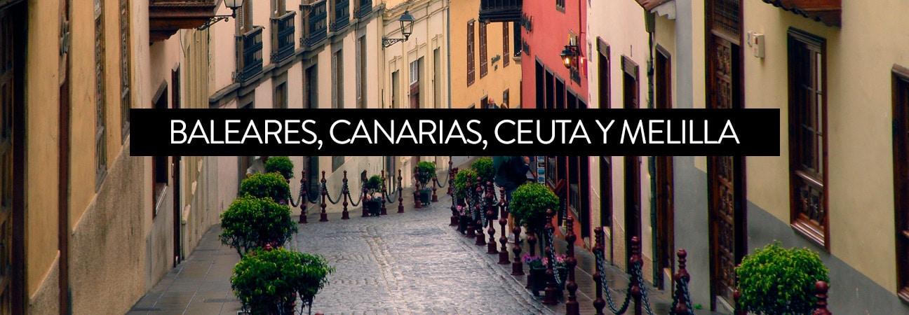 Descuento para islas Canarias, Baleares, Ceuta y Melilla disponible para compras superiores a 75 €