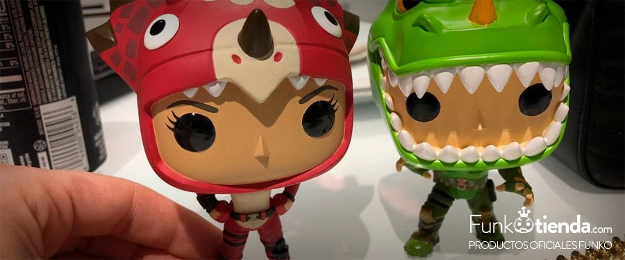 Funko Pop Fortnite skins dinosaurios